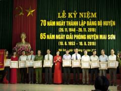 Kỷ niệm 70 năm ngày thành lập Đảng bộ huyện và 65 năm ngày giải phóng huyện Mai Sơn