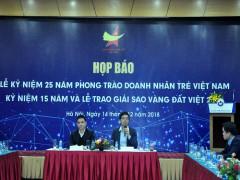 200 thương hiệu nhận giải thưởng Sao vàng đất Việt 2018