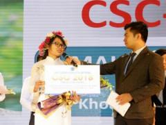 Nữ sinh Mai Thị Ánh Hồng nhận giải thưởng Tài năng CSC 2018