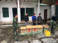 Bắt 03 đối tượng dùng đò sắt vận chuyển 250 cây thuốc lá ngoại  nhập lậu qua biên giới