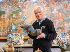 Triển lãm giới thiệu bộ sưu tập lợn của nhà sử học Dương Trung Quốc