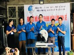 """Đoàn phường Cẩm Sơn ra mắt """"Mô hình thanh niên làm Kinh tế - Dịch vụ cơ khí tổng hợp 86"""""""