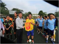 Trường ĐH Kinh doanh và Công nghệ Hà Nội tham gia  Giải bóng đá Tứ Hùng