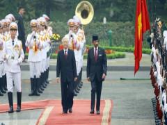 Hình ảnh ngày đầu tiên Quốc vương Brunei thăm cấp Nhà nước Việt Nam