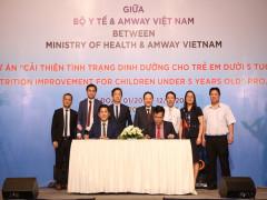 """Bộ y tế và Amway Việt Nam đã ký kết thỏa thuận hợp tác Dự án """"Cải thiện tình trạng dinh dưỡng cho trẻ em dưới 5 tuổi"""""""