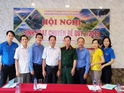 Đảng uỷ Khối Bộ Xây dựng tổ chức sinh hoạt chuyên đề tại Hà Giang