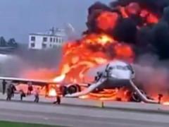 Hiện trường vụ cháy máy bay ở Nga, ít nhất 41 người thiệt mạng