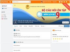 Ôn tập trực tuyến môn lịch sử lớp 9 dành cho học sinh Hà Nội