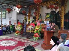 Đánh cồng chiêng – nghi thức không thể thiếu trong lễ Khánh đản đền Đá Đen