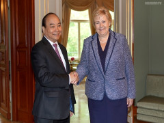 Thủ tướng Nguyễn Xuân Phúc hội đàm với Thủ tướng Na Uy