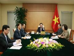 Phó Thủ tướng Vương Đình Huệ điện đàm với Bộ trưởng Tài chính Hoa Kỳ
