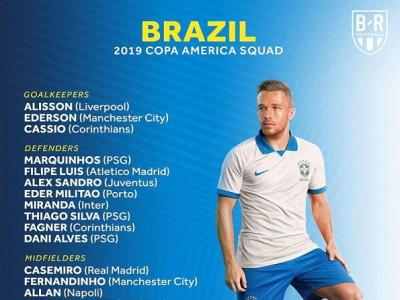 Copa America 2019: Brazil bất ngờ loại Marcelo và Vinicius
