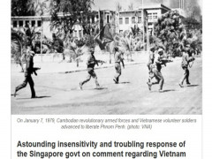 Báo Singapore thừa nhận nước này đã ủng hộ chế độ diệt chủng Khmer Đỏ