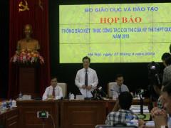 """Họp báo sau kỳ thi THPT: Vụ """"lọt""""đề lên mạng ở Phú Thọ đã được xử lý"""
