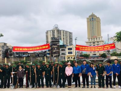 Thành đoàn Móng Cái và Bộ đội Biên phòng đồng loạt ra quân bảo vệ môi trường