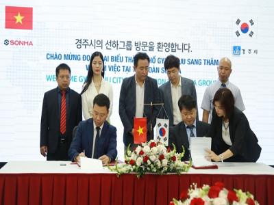 Tập đoàn Sơn Hà và thành phố Gyeongju ký kết Ý Định Thư về việc chuyển giao công nghệ xử lý nước thải