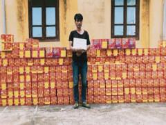Bắt giữ đối tượng vận chuyển trái phép gần 900 kg pháo qua biên giới tỉnh Cao Bằng