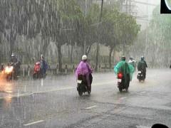 Dự báo thời tiết: Chiều nay Hà Nội có mưa vừa, có nơi mưa to