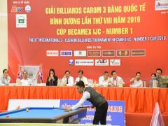 Number 1 đồng hành cùng Giải Billiards Carom 3 băng quốc tế Bình Dương
