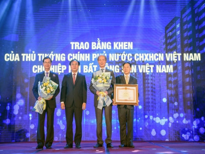 Hiệp hội Bất động sản Việt Nam vinh dự nhận Bằng khen của Thủ tướng Chính phủ