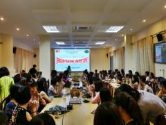 Hội thi giảng dạy giáo trình trực tuyến Speakout tại Trường ĐH Kinh doanh và Công nghệ Hà Nội