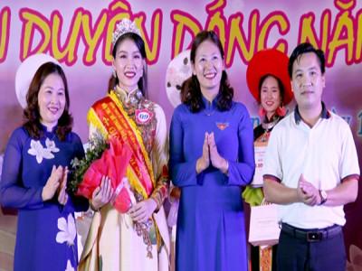 Thí sinh Nguyễn Bảo Ngọc đạt giải nhất Hội thi Nữ thanh niên duyên dáng năm 2019