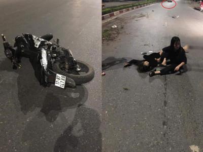 Lộ video quay khoảnh khắc chiếc Yamaha Exciter kẹp 5 tông vào dải phân cách khiến 4 sinh viên tử vong tại Thái Nguyên