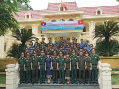 Đoàn cán bộ công tác thanh niên Quân đội nhân dân Lào đến thăm và giao lưu tại Nhà máy Z121
