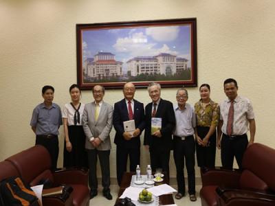 Đón tiếp Tổ chức giáo dục IGlobal University (Hoa Kỳ) đến thăm và làm việc tại trường