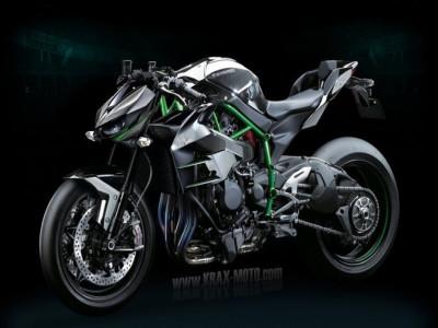 Naked bike Kawasaki Z1000 thế hệ mới sẽ trang bị động cơ Supercharge tương tự như Kawasaki Ninja H2