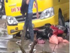 Nghệ An: Ô tô khách va chạm với xe máy, 2 vợ chồng thương vong