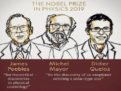 Giải Nobel Vật lý 2019 vinh danh khám phá về vũ trụ và ngoại hành tinh
