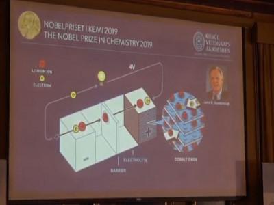 Giải Nobel Hóa học 2019 thuộc về công trình pin lithium-ion