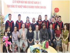 Lễ kỷ niệm ngày nhà giáo Việt Nam, trao bằng tốt nghiệp k20 và khen thưởng sinh viên khoa mỹ thuật ứng dụng