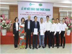 Lễ ký kết văn bản hợp tác đào tạo thực hành  giữa Trường ĐH Kinh doanh và Công nghệ Hà Nội  và Công ty Cổ phần Tập đoàn Mera