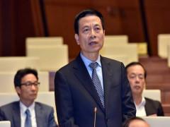 Bộ trưởng Nguyễn Mạnh Hùng trả lời chất vấn
