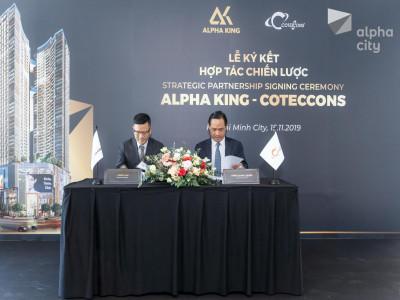 Công bố lễ ký kết hợp tác giữa Alpha King và Coteccons