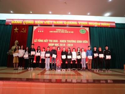 Lễ tổng kết thi đua khen thưởng sinh viên năm học 2018 - 2019