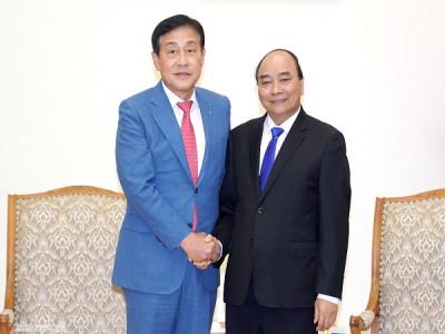 Thủ tướng tiếp Tập đoàn Tài chính Hana, Hàn Quốc