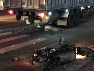Nghệ An: Ô tô tải biển số Lào tông liên hoàn xe máy và xe máy điện, 1 phụ nữ tử vong