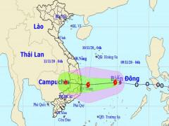 Áp thấp nhiệt đới mạnh lên thành bão Etau