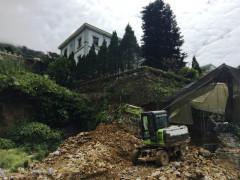 Cận cảnh đại công trường khoét núi, phạt đồi đổ bê tông tại Tam Đảo