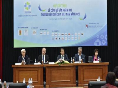 124 doanh nghiệp với tổng số 283 sản phẩm được công nhận đạt Thương hiệu Quốc gia Việt Nam năm 2020