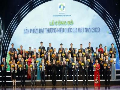 Công bố các sản phẩm đạt Thương hiệu quốc gia năm 2020
