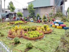 Các mô hình vườn hoa thanh niên của đội tuyên truyền viên BVMT xã Phú Nhuận B, huyện Hồng Ngự, tỉnh Đồng Tháp