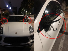 Tối mùng 3 Tết, chủ xe Porsche Macan mất hơn 100 triệu đồng vì bị kẻ gian vặt gương