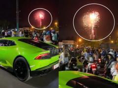 Siêu xe Lamborghini Huracan LP610-4 xanh cốm đón Tết Canh Tý ở Bến Tre
