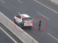 Nữ tài xế bị phạt 7 triệu đồng vì dừng xe trên cao tốc Hà Nội - Hải Phòng để chụp ảnh