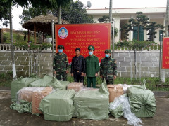 Đồn biên phòng Bắc Sơn bắt giữ 02 vụ vận chuyển trái phép 48.000 khẩu trang y tế qua biên giới