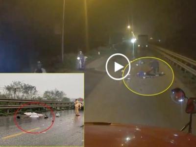 Video: Người vợ khóc thảm thiết bên thi thể chồng bị xe tải cán qua người tại quốc lộ 1A